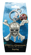 Image: Pirates of the Caribbean Pewter Key Ring: Skull  - Monogram Products