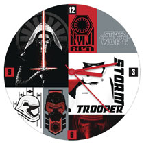 Image: Star Wars Wall Clock: E7 Collage  (Cordless Wood) (13.5-inch) - Vandor LLC