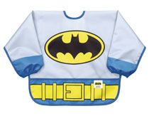 Image: DC Comics Jr. Sleeved Superbib: Batman Costume  - Bumkins Finer Baby Products