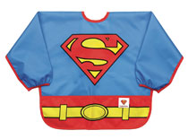 Image: DC Comics Jr. Sleeved Superbib: Superman  - Bumkins Finer Baby Products