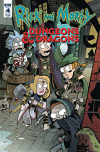 Image: Rick & Morty vs. Dungeons & Dragons #4 (cover A - Little) - IDW Publishing