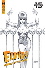 Image: Elvira: Mistress of the Dark #6 (incentive cover - Linsner B&W) (25-copy)  [2018] - Dynamite