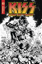Image: Kiss: Blood and Stardust #3 (incentive cover - Buchemi B&W) (10-copy) - Dynamite