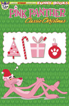 Image: Pink Panther: Classic Christmas #1 (variant cover - Retro Animation) - American Mythology Productions