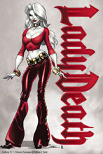 Image: Lady Death Gallery: Crimson Turnaround Edition #1 (variant cover - Front) - Coffin Comics