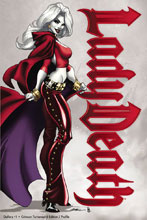 Image: Lady Death Gallery: Crimson Turnaround Edition #1 (variant cover - Profile) - Coffin Comics