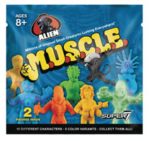 Image: Alien Muscle Figure Blind Mystery Box 36-Piece Display  - Super 7