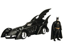 Image: Batman Metals Die Cast: Batman Forever Batmobile & Batman  - Jada Toys, Inc