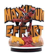 Image: Deadpool Q-Figure Max Diorama: Maximum Effort  - Quantum Mechanix Inc