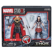 Image: Marvel MCU 10th Anniversary Thor 2 Action Figure Set Case  - Hasbro Toy Group