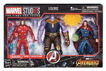Image: Marvel MCU 10th Anniversary Avengers 3 Action Figure Set Case  - Hasbro Toy Group