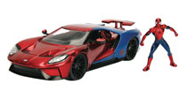 Image: Metals Marvel Vehicle: Spider-Man - 2017 Ford Gt  (1/24 Scale) - Jada Toys, Inc