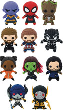 Image: Marvel Avengers 3 3D Figural Keyring 24-Piece Ser2 Blind Mystery Box Display  - Monogram Products