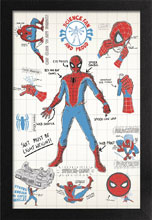 Image: Marvel Framed Print: Spider-Man - Infographic  (11x17) - Pyramid America, Lp