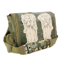 Image: Walking Dead Messenger Bag: Daryl Wings  (Green) - Crowded Coop, LLC