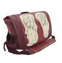 Image: Walking Dead Messenger Bag: Daryl Wings  (Red) - Crowded Coop, LLC