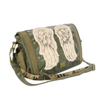 Image: Walking Dead Mini-Messenger Bag: Daryl Wings  (Green) - Crowded Coop, LLC