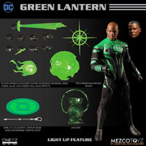 Image: DC One:12 Collective Action Figure: Green Lantern John Stewart  - Mezco Toys