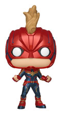 Image: Pop! Marvel Vinyl Bobble-Head 425: Captain Marvel  - Funko