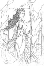 Image: Dejah Thoris #1 (2019) (incentive 1:10 cover - Tucci Pencil) - Dynamite