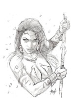 Image: Dejah Thoris Vol. 03 #1 (incentive 1:40 cover - Parrillo Pencil) - Dynamite