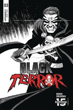 Image: Black Terror Vol. 02 #3 (incentive 1:30 cover - Marron B&W)  [2019] - Dynamite