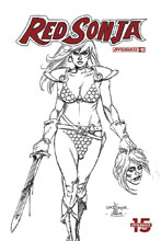 Image: Red Sonja Vol. 05 #11 (incentive 1:30 cover - Linsner B&W) - Dynamite