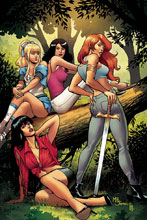 Image: Red Sonja & Vampirella Meet Betty & Veronica #7 (incentive 1:30 cover - Sanapo virgin) - Dynamite