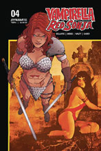 Image: Vampirella / Red Sonja #4 (cover E - Moss Then Now) - Dynamite