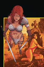 Image: Vampirella / Red Sonja #4 (incentive 1:30 cover - Moss virgin) - Dynamite
