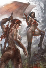 Image: Vampirella / Red Sonja #4 (variant cover - Parrillo virgin) - Dynamite