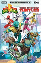 Image: Power Rangers / Teenage Mutant Ninja Turtles #1 (cover A - Mora) - Boom! Studios