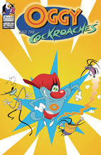Image: Oggy & the Cockroaches #2 (cover C - Animation Cel) - American Mythology Productions