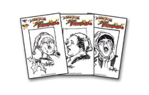 Image: Three Stooges: Merry Stoogemas  (Hand Drawn Sketch cover) - American Mythology Productions