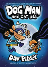 Image: Dog Man with Dust Jacket Vol. 04: Dog Man & Cat Kid GN HC  - Graphix