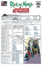 Image: Rick & Morty vs. D&D II: Painscape #4 (cover C - Character Sheet) - Oni Press Inc.