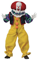 Image: It 1990 Retro Action Figure: Pennywise  (8-inch) - Neca