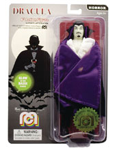 Image: Mego Horror Wave 6 Action Figure: Dracula Purple Cape  (Glow-in-the-Dark) (8-inch) - Mego Corporation