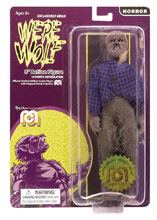 Image: Mego Horror Wave 6 Action Figure: Werewolf Flocked  (8-inch) - Mego Corporation