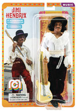Image: Mego Legends Wave 5 Action Figure: Jimi Hendrix Miami Pop  (8-inch) - Mego Corporation