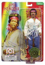 Image: Mego Legends Wave 6 Action Figure: Jimi Hendrix Woodstock Flocked  (8-inch) - Mego Corporation