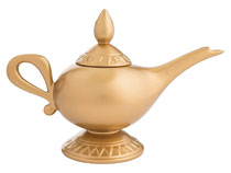 Image: Disney Aladdin Sculpted Ceramic Teapot: Genie Lamp  - Vandor LLC