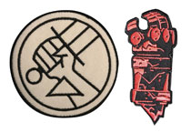 Image: Hellboy B.P.R.D. Logo & Right Hand of Doom 8-Piece Patch Assortment  - Skelton Crew Studio, LLC