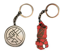 Image: Hellboy B.P.R.D. Logo & Right Hand of Doom 8-Piece Keychain Assortment  - Skelton Crew Studio, LLC