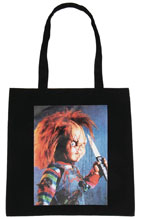 Image: Child's Play Canvas Tote: Chucky Image Capture  - Bioworld Merchandising