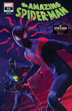 Image: Amazing Spider-Man #55 (LR) (incentive 1:10 Spider-Man Miles Morales cover - Schumacher) - Marvel Comics