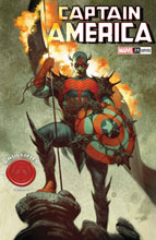 Image: Captain America #26 (variant Knullified cover - Tedesco) - Marvel Comics