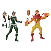 Image: X-Men Movie Legends Action Figure Case: Pyro & Rogue  (2-Pack) (6-inch) - Hasbro Toy Group
