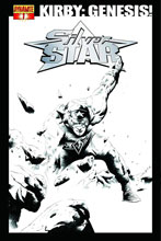 Image: Kirby: Genesis Silver Star #1 (15-copy B&W incentive cover) - D. E./Dynamite Entertainment