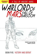 Image: Warlord of Mars: Fall of Barsoom #5 (10-copy Jusko B&W incentive cover) - Dynamite